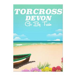 Torcross, Devon-Strandfeiertagsplakat Leinwanddruck