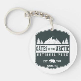 Tore des arktischen Nationalparks Schlüsselanhänger
