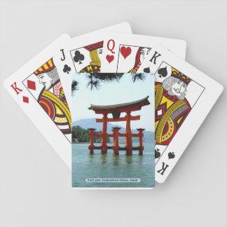 Torii Tor, Itsukushima Schrein, Japan Spielkarten
