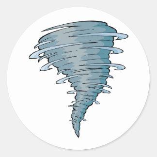 Tornado-Aufkleber Runder Aufkleber