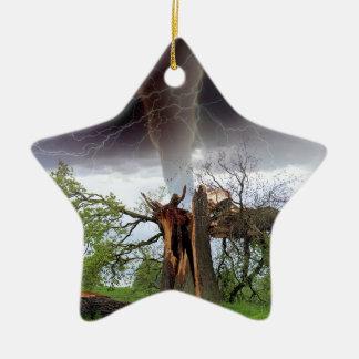 Tornado Keramik Stern-Ornament
