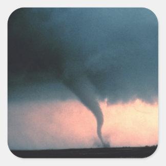 Tornado Quadratischer Aufkleber