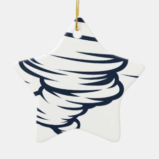 Tornado-Wirbelsturm-Hurrikantwister-Ikone Keramik Stern-Ornament