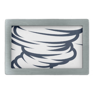 Tornado-Wirbelsturm-Hurrikantwister-Ikone Rechteckige Gürtelschnallen