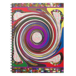 Tornado-Wirbelwind HighTide bewegt bunte Kunst Spiral Notizblock