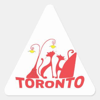 Toronto 1 dreieckiger aufkleber