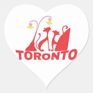 Toronto 1 Herz-Aufkleber