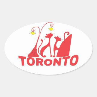 Toronto 1 ovaler aufkleber