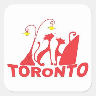 Toronto 1 quadratischer aufkleber