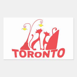 Toronto 1 rechteckiger aufkleber