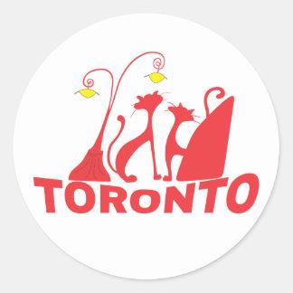 Toronto 1 runder aufkleber