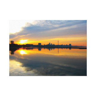 Toronto am Sonnenaufgang - Leinwand