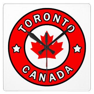 Toronto Kanada Quadratische Wanduhr