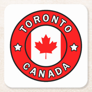 Toronto Kanada Rechteckiger Pappuntersetzer