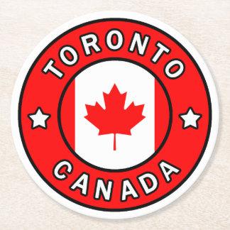 Toronto Kanada Runder Pappuntersetzer