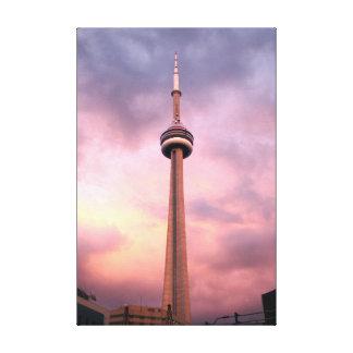 "Toronto - KN-Turm 24"" x 6"", 1,5"", Leinwand"