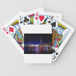 Toronto-NachtSkyline Bicycle Spielkarten