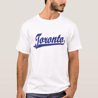 Toronto-Skriptlogo im Blau T-Shirt
