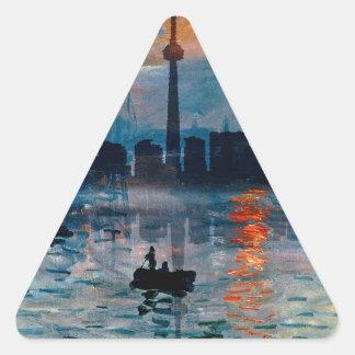 Toronto Skyline40 Dreieckiger Aufkleber