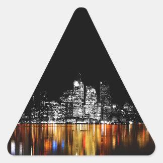 Toronto-Skyline Dreieckiger Aufkleber