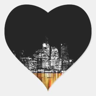 Toronto-Skyline Herz-Aufkleber