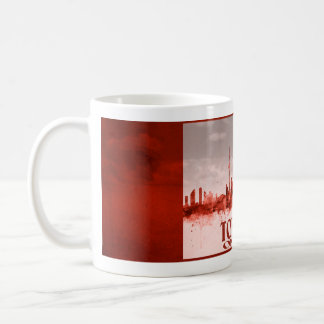 Toronto-Skyline mit rotem Schmutz Kaffeetasse