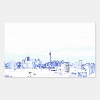 Toronto-Skyline Rechteckiger Aufkleber