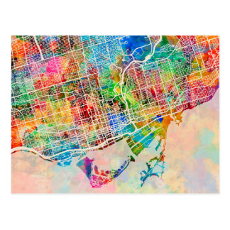 Toronto-Stadt-Straßenkarte Postkarten