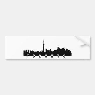 Toronto-Stadtbildkanada-Stadtsymbolschwarzes Autoaufkleber