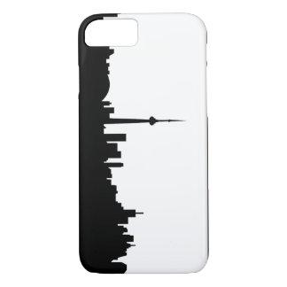 Toronto-Stadtbildkanada-Stadtsymbolschwarzes iPhone 8/7 Hülle
