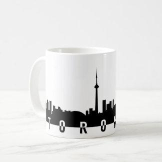 Toronto-Stadtbildkanada-Stadtsymbolschwarzes Kaffeetasse
