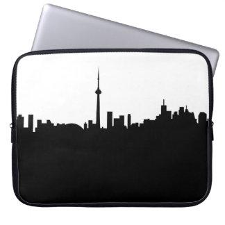 Toronto-Stadtbildkanada-Stadtsymbolschwarzes Laptop Sleeve