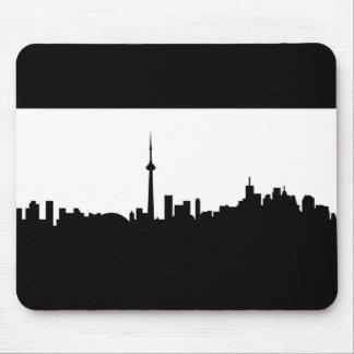 Toronto-Stadtbildkanada-Stadtsymbolschwarzes Mousepad