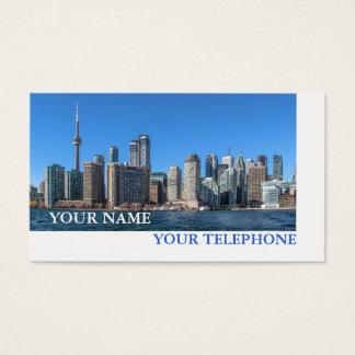 Torontoskyline-wirkliches Anwesen oder Visitenkarte
