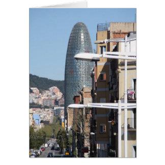 Torre Agbar, Barcelona Karte