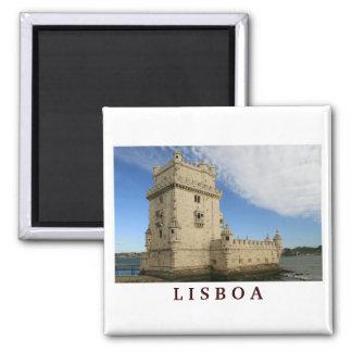"""""""Torre De Belem, Lissabon"""" Magnet Quadratischer Magnet"""
