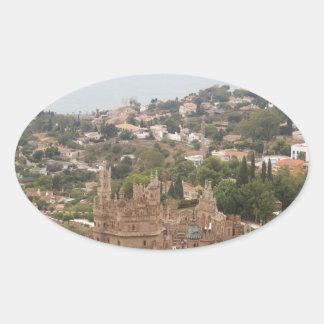 Torremolinos-Ansicht-Strecke - Spanien Ovaler Aufkleber