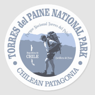 Torres Del Paine NP Runder Aufkleber
