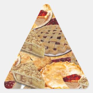 Torte Dreieckiger Aufkleber