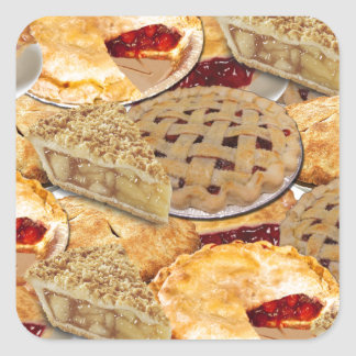 Torte Quadratischer Aufkleber
