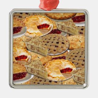 Torte Silbernes Ornament