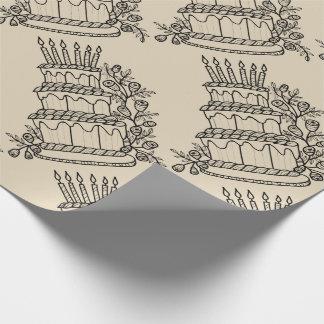Torten-Linie Kunst-Entwurf Geschenkpapier