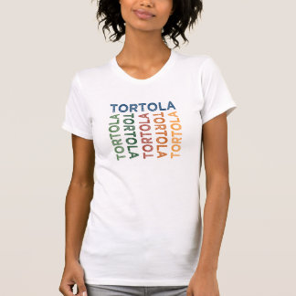 Tortola niedliches buntes T-Shirt