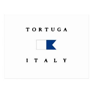 Tortuga Italien Alphatauchen-Flagge Postkarte