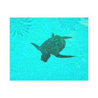 Tortuga Schildkröte-Mosaik auf Sanibel Insel Leinwanddruck