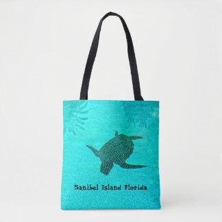 Tortuga Schildkröte-Mosaik auf Sanibel Insel Tasche