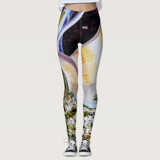 Torus-Raum-Kolonien-Grafik/Science Fiction-Kunst Leggings