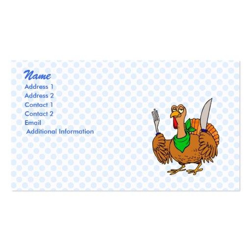 Tory die Türkei Visitenkarten Vorlage