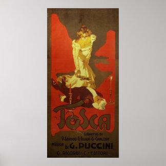 Tosca-Oper Poster