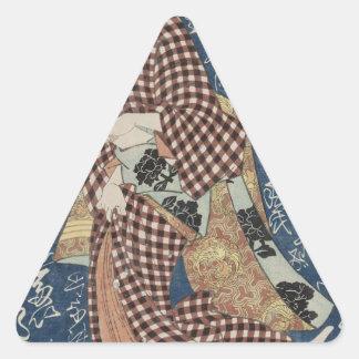 Tôsei Matsu durch Keisai Eisen Dreiecks-Aufkleber